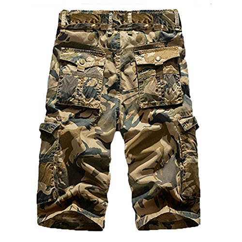 Corriee Men's Summer Fashion Shorts Plus Size Mens Durable Camouflage Cotton Outdoor Cargo Short Pants with Pockets by Corriee Men Pants (Image #1)