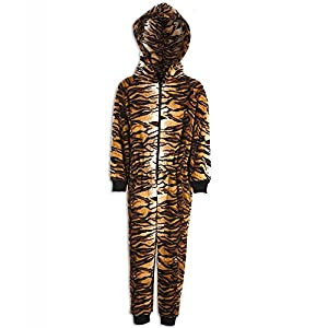 Camille Childrens Unisex Tiger Print All In One Pyjama Onesie