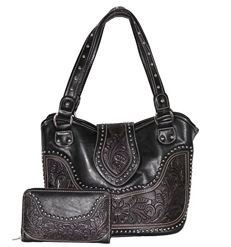 concealed-carry-tooled-leather-shoulder-purse-concealed-weapon-gun-bag-w-matching-wallet-by-montana-