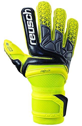 Reusch Prisma Pro G3 Evolution Goalkeeper Glove, Yellow/Black, 11 (Control Soccer Keeper)
