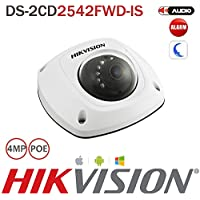 Hikvision Ip Cctv Camera DS-2CD2542FWD-IS 4MP 2.8MM Dome Camera Poe Wdr Ir Day/Night Hd 1080P Ip67 Waterproof Built-In Microphone Audio Output Security Camera