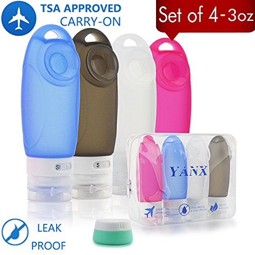 YANX Squeezable Refillable Accessories Toiletries Set product image