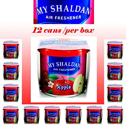 My Shaldan Air Freshener Apple Scent (D41AP) - QTY. 12 Cans /Per BOX (Character Air Freshener)
