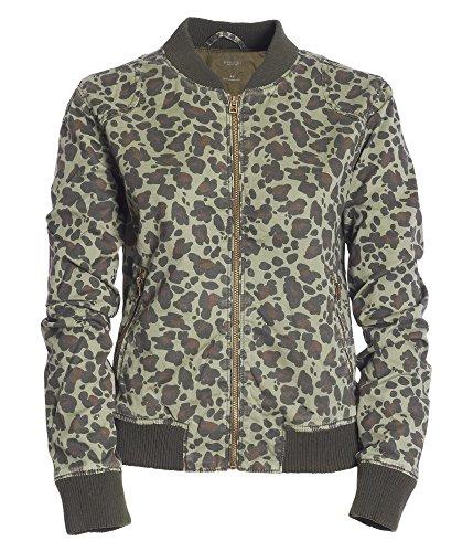 Aeropostale Womens Leopard Bomber Jacket