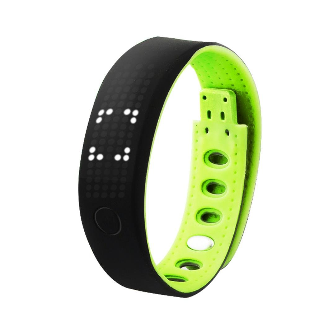 LANDFOX B17 Smart Bracelet Pedometer Sleep Monitor Bluetooth Wrist Watch Green2
