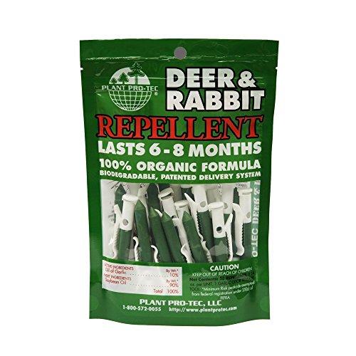 (50 Pack) Deer and Rabbit Natural Garlic Repellent Organic Biodegradable (Made In (Garlic Deer Repellent)