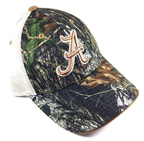 National Cap NCAA Audible Mossy Oak Mesh Trucker Snapback (University of Alabama - Crimson Tide)
