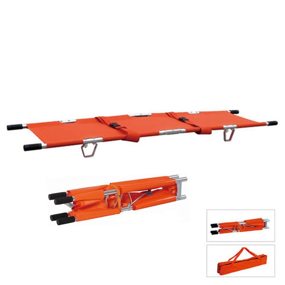 Civière Portable Se Pliante Portative D'alliage D'aluminium De Délivrance Avec Des Poignées DW-F002, Capacité De Poids 350Lbs, Orange Capacité De Poids 350Lbs MEYLEE
