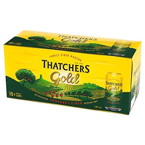 Thatchers Gold Somerset Cider 10 x 440ml (Pack of 2 x 10x440m)