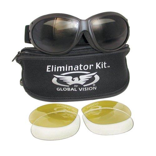 Eliminator Global Vision Kit #2 (3 Lenses - Smoke, Clear & Yellow - Sunglasses Eliminator