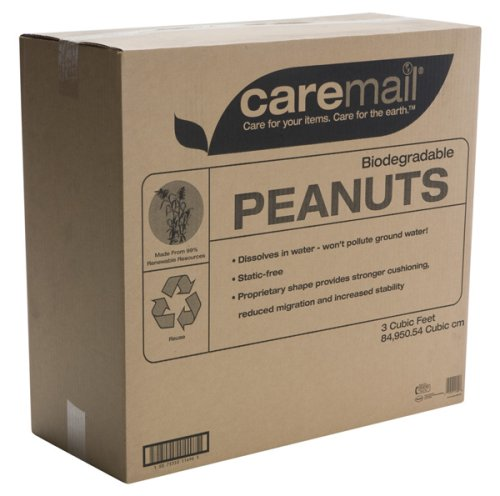Caremail Biodegradable Packing Peanuts, 3 Cubic Feet (1118683)
