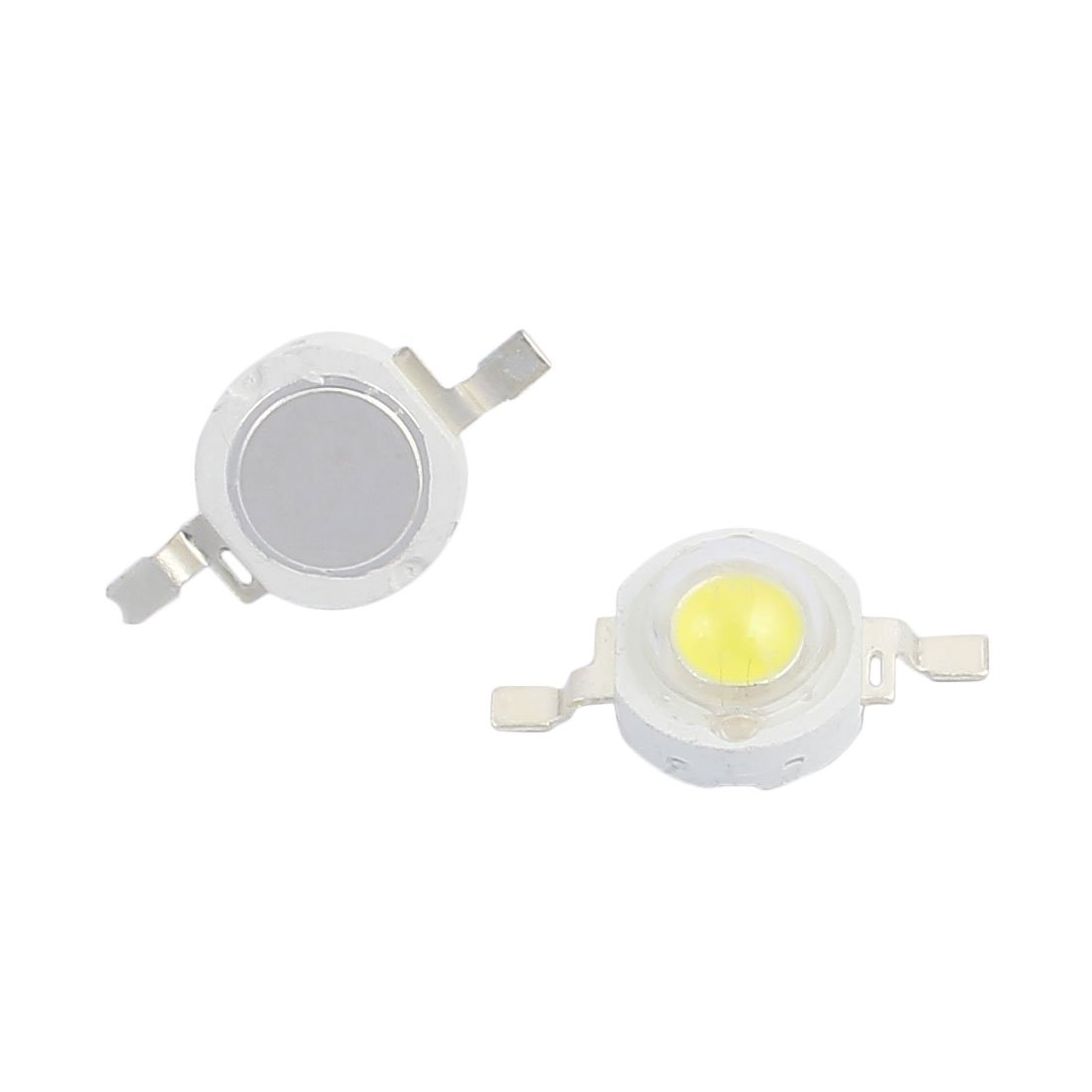 uxcell 15 Pcs DC 3-6V 5W High Power Warm White SMD LED Lamp Bead 475-525LM 3000K