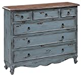Shoreview 6-Drawer Cabinet Weathered Blue-Gray Finish