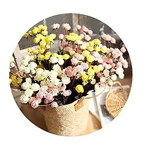 Sevem-D 1Pc/Bag 15 Head Small Rose Bubble Simulation Flower for Festive Party Artificial Decorations Artificial 51