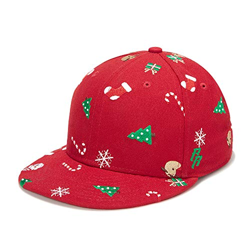 Claus Baseball Santa - Riorex Hip hop caps Fashion Animal Embroidery Baseball Cap for Men Adjustable Leather Belt Strapback Baseball Cap (RED-Christmas)