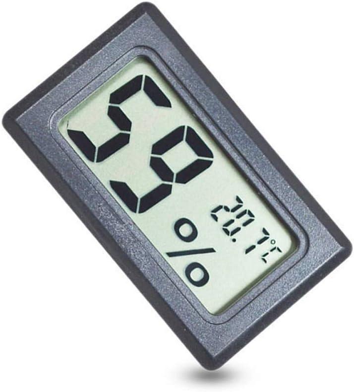 5 unids Mini LCD Digital Temperatura y Humedad Medidor Mascota Reptil Inal/ámbrico Term/ómetro Higr/ómetro