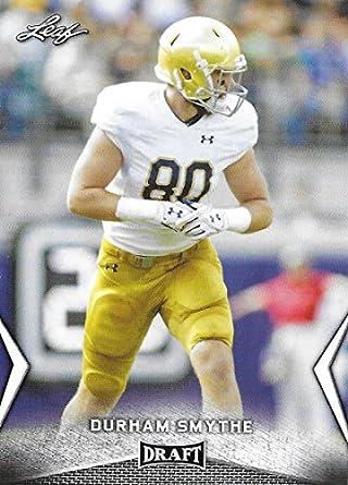 10092739054ca Amazon.com: 2018 Leaf Draft #22 Durham Smythe Notre Dame Football ...
