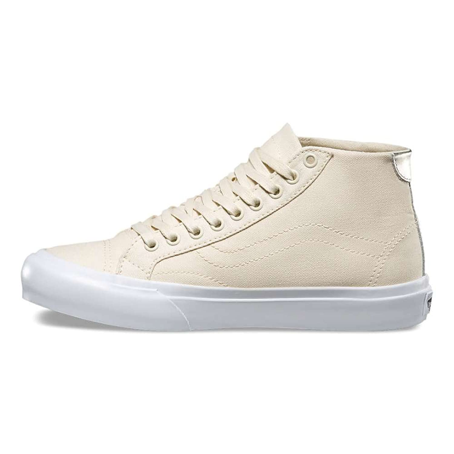 Vans Mens Court Mid Canvas Low Top Lace Up Fashion Sneakers Beige Size 7.0