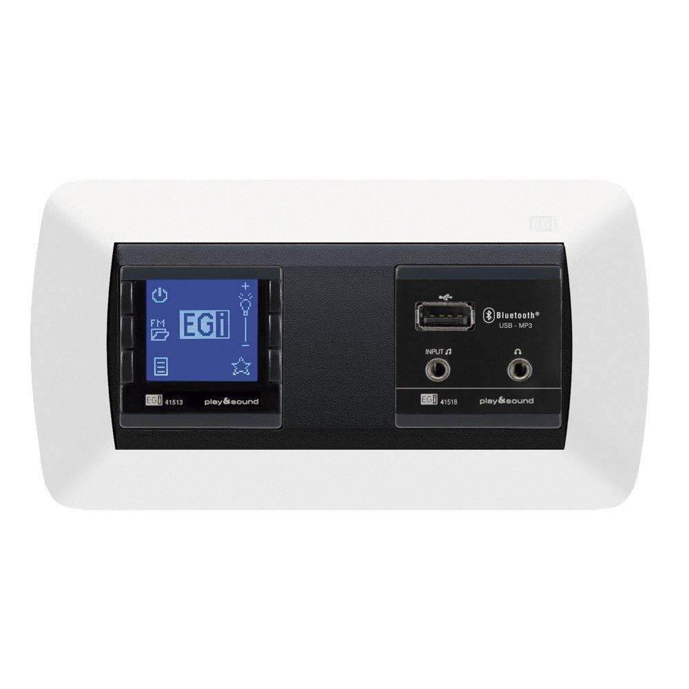 Egi Audio Solutions 41020 - Kit de Sonido Wall Radio, Color Blanco y Negro