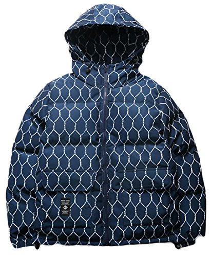 Bread Outerwear Men's amp;S Hooded M Down amp;W Sleeve Blue Long Coat z1xwYqE