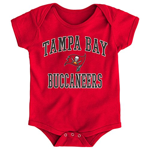 "NFL Tampa Bay Buccaneers Newborn & Infant ""City Wide"" Short Sleeve Bodysuit Red, 18 Months"