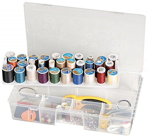 ArtBin Sew-lutions Sewing Supply Storage-Clear Sewing Supply Box, 7003AB