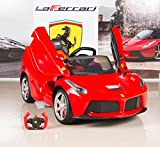 bigtoysdirect 12v ferrari laferrari kids electric ride on car with mp3 and remote control red