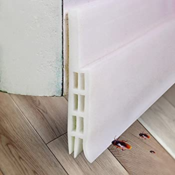 OSPORTFUN Adhesive Under Door Sweep Weather Stripping Soundproof Rubber  Bottom Seal Strip Draft Stopper Draught Excluder