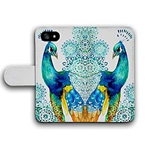 YULIN The Proud Peacock Pattern PU Leather Full Body Case with Card Slot for iPhone 4/4S