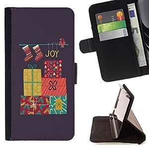 """For HTC Desire 626 626w 626d 626g 626G dual sim,S-type Feliz Navidad Vacaciones de Invierno Regalos"""" - Dibujo PU billetera de cuero Funda Case Caso de la piel de la bolsa protectora"""