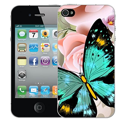 Mobile Case Mate iPhone 5 clip on Dur Coque couverture case cover Pare-chocs - heavenly butterfly Motif avec Stylet
