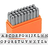 Arts & Crafts : ImpressArt- Basic Newsprint Uppercase Letter Metal Stamp Set