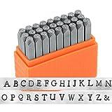 ImpressArt- Basic Newsprint Uppercase Letter Metal Stamp Set