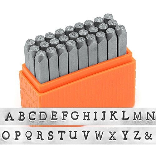 ImpressArt- Basic Newsprint Uppercase Letter Metal Stamp Set by ImpressArt