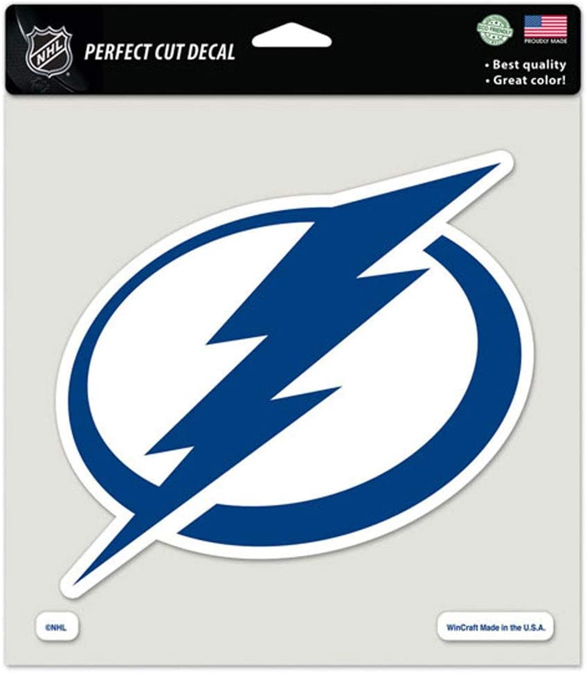 WinCraft NHL Tampa Bay Lightning Decal8x8 Perfect Cut Color Decal One Size Team Colors