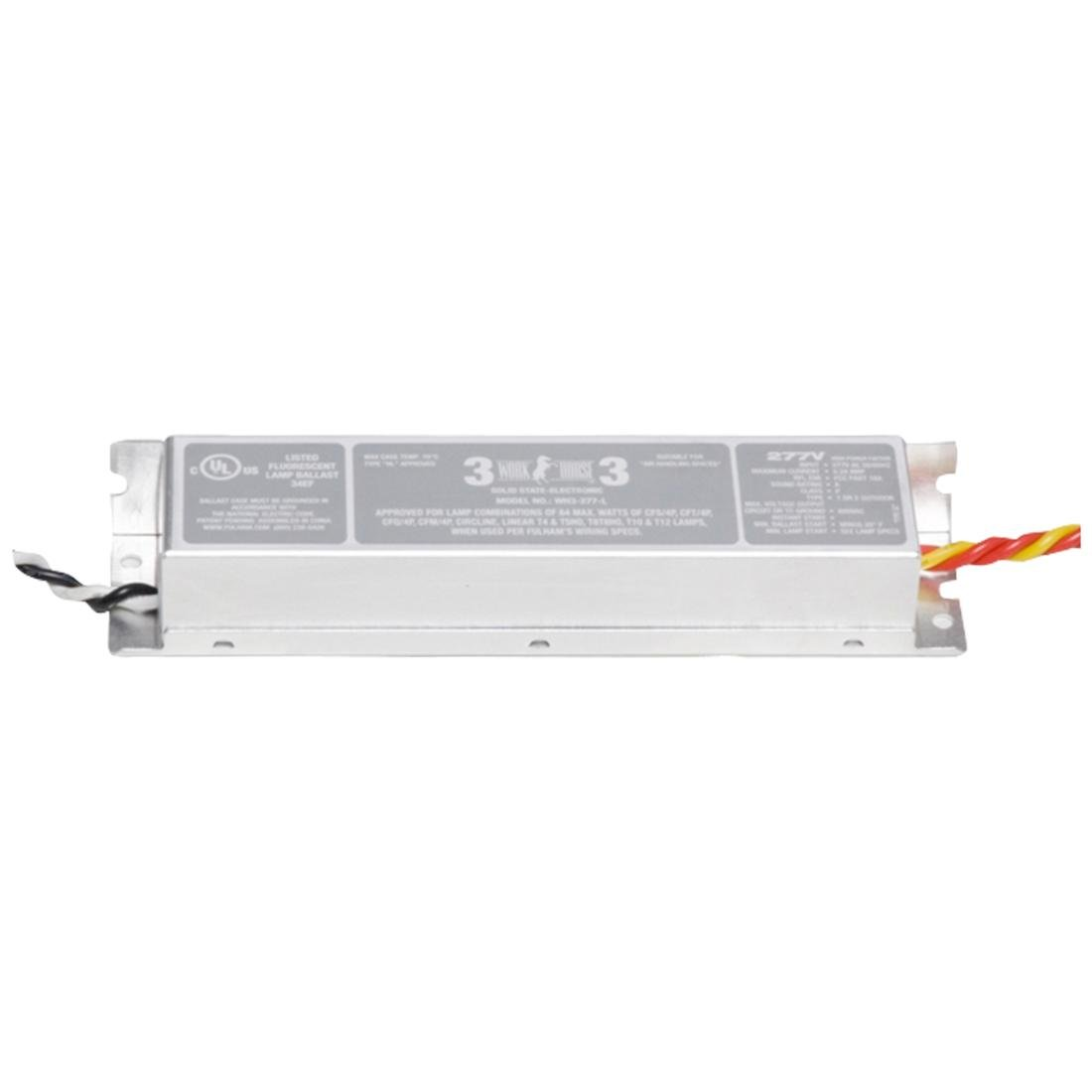Instant Start Electronic FL WorkHorse Ballast for 1-3 64W Max Lamps Run at 277V (WH3-277-L)