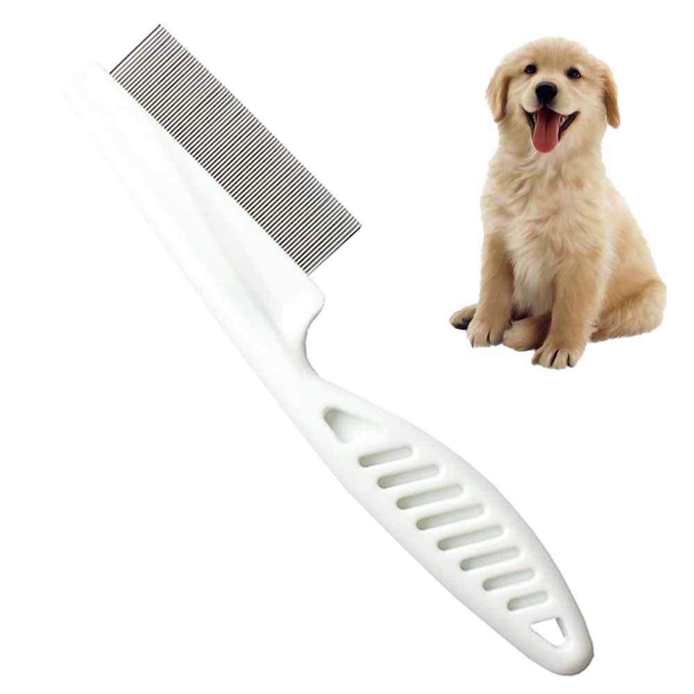 KGAQ Family pet Animal Care Comb Protection flea Comb cat Dog pet Stainless Steel Comfortable flea Hair Comb Comb by KGAQ