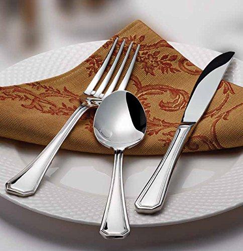 Winco Victoria 3 Dozen Flatware Set, Extra Heavy 18-0 Stainless Steel Classic Old-Fashioned Dinner Spoons (Dozen Pack), Dinner Forks (Dozen Pack) and Dinner Knives (Dozen Pack), 36-Piece Set