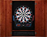 Viper Metropolitan Solid Wood Cabinet & Electronic Dartboard Ready-to-Play Bundle: Standard Set (777 Dartboard), Cinnamon Finish