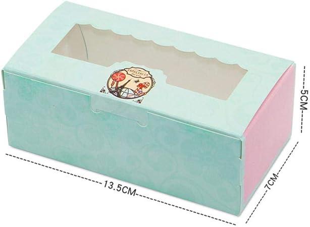 SJYM 10 Piezas Caja de Regalo de Papel con Ventana Banquete de Boda Papel Kraft Caja de Pastel Empaquetado de Alimentos Galletas de Caramelo Caja de Magdalenas, S: Amazon.es: Hogar