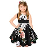 HB HBB MAGIC Girls 50s Vintage Swing Rockabilly Retro Sleeveless Party Dress for Occasion