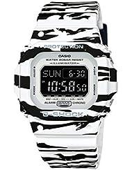 Casio G-Shock BLACK AND WHITE Series TIger Striped Mens Resin Watch DWD5600BW-7 Digital World Time Shock Water...