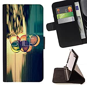 Momo Phone Case / Flip Funda de Cuero Case Cover - Sonrisa Cita Vida Positiva actitud Motivación - Motorola Moto E ( 2nd Generation )