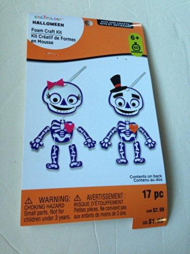 (Foam Craft kit of Mr & Mrs Skeleton Ornaments 17 Piece kit (60 min. Project) MSRP 1.99 2 Kits per Order = 3.98)