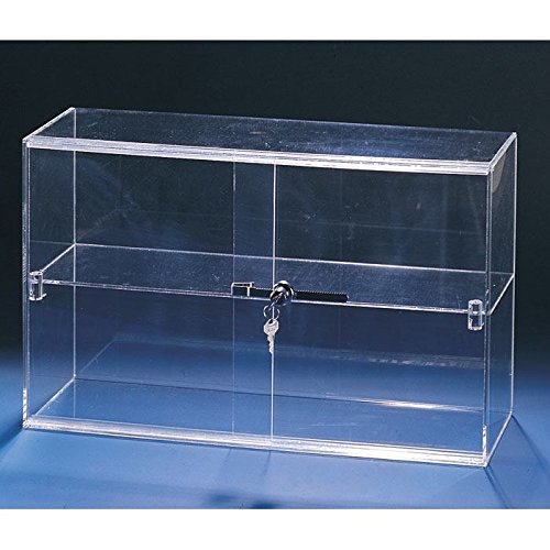 Sliding Door Acrylic Case 2 Shelves