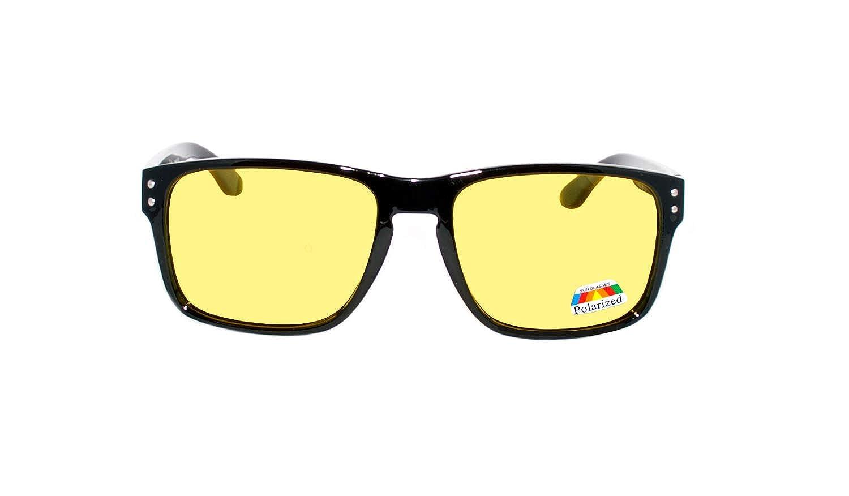 rainbow safety Auto Brille Nachtsichtbrille Nachtfahrbrille Kontrastbrille Blaulicht-Schutz Blendschutz Polarisierte Gl/äser RWN1PBLK