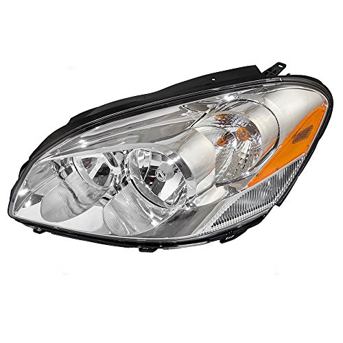 Cornering Lamp Assembly - Drivers Halogen Combination Headlight Headlamp w/Cornering Lamp Replacement for 06-11 Buick Lucerne 25974773