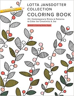 amazoncom lotta jansdotter collection coloring book 45 contemporary prints patterns to color for creativity joy 9781617455339 lotta jansdotter