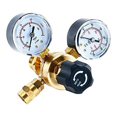 YaeTek Argon CO2 Regulators Gauges Gas Welding Regulator CGA580 Miller Lincoln Mig Tig Weld 0-4500PSI / 0-10BAR
