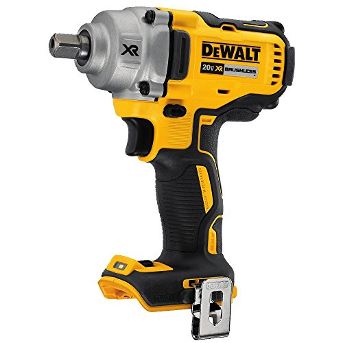 DEWALT 20V MAX XR Cordless Impact Wrench Kit with Detent Pin Anvil, 1/2-Inch, Tool Only -